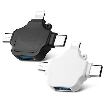 4-في-1، Otg USB محول لنظام التشغيل IOS الروبوت، نوع ج 3.0 مايكرو USB، قارئ بطاقة