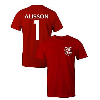 Alisson Becker 1 Club Style Player Football T-Shirt