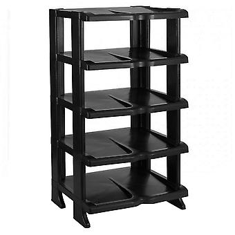 Shoe rack, 5 Floors - Black