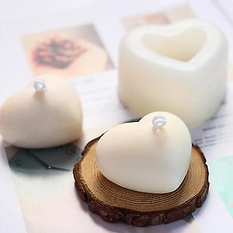 3d Love Heart Siliconen Aroma Gips Kaars Schimmel