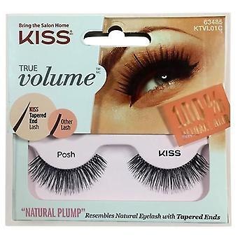 Kiss True Volume Tapered End False Lashes - Posh - Lash Adhesive Included