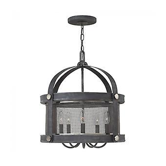 Lámpara Colgante Holden, Cynk Antiguo, 5 Bombillas