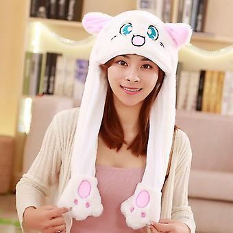 Kaninchen Hut bewegliche Ohren, süße Cartoon Airbag, Mütze, Kinder PlüschSpielzeug, Geburtstag