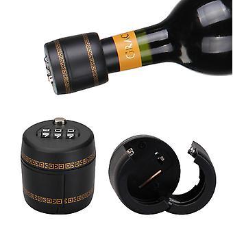 قفل زجاجة النبيذ، قفل رمز من ثلاثة أرقام، زجاجة النبيذ قفل قبعة، المضادة للسرقة النبيذ زجاجة قفل