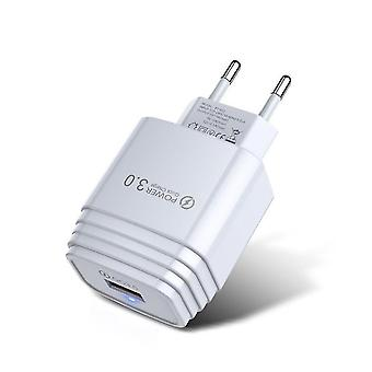 Quick charge 3.0 usb wall charger mobile phone charger adapter eu plug