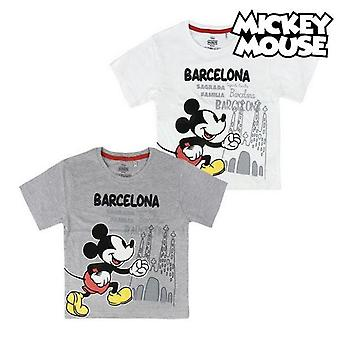 Child's short sleeve t-shirt barcelona mickey mouse 73489