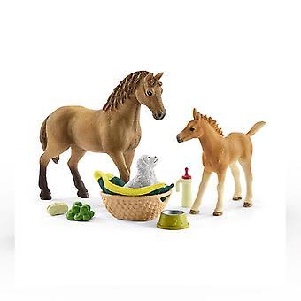 Schleich hevoskerho sarah'vauvan eläinten hoito