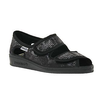 Emanuela black slipper shoes