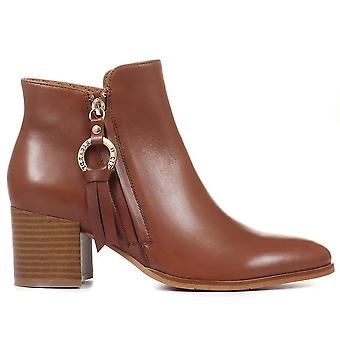 Regarde Le Ciel Womens Taylor-01 Block Heel Ankle Boots
