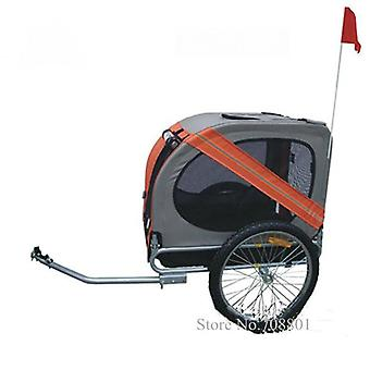 Inflatable Wheel Pet Trailer, Aluminum Frame Bicycle Cart, Dogs Carrier
