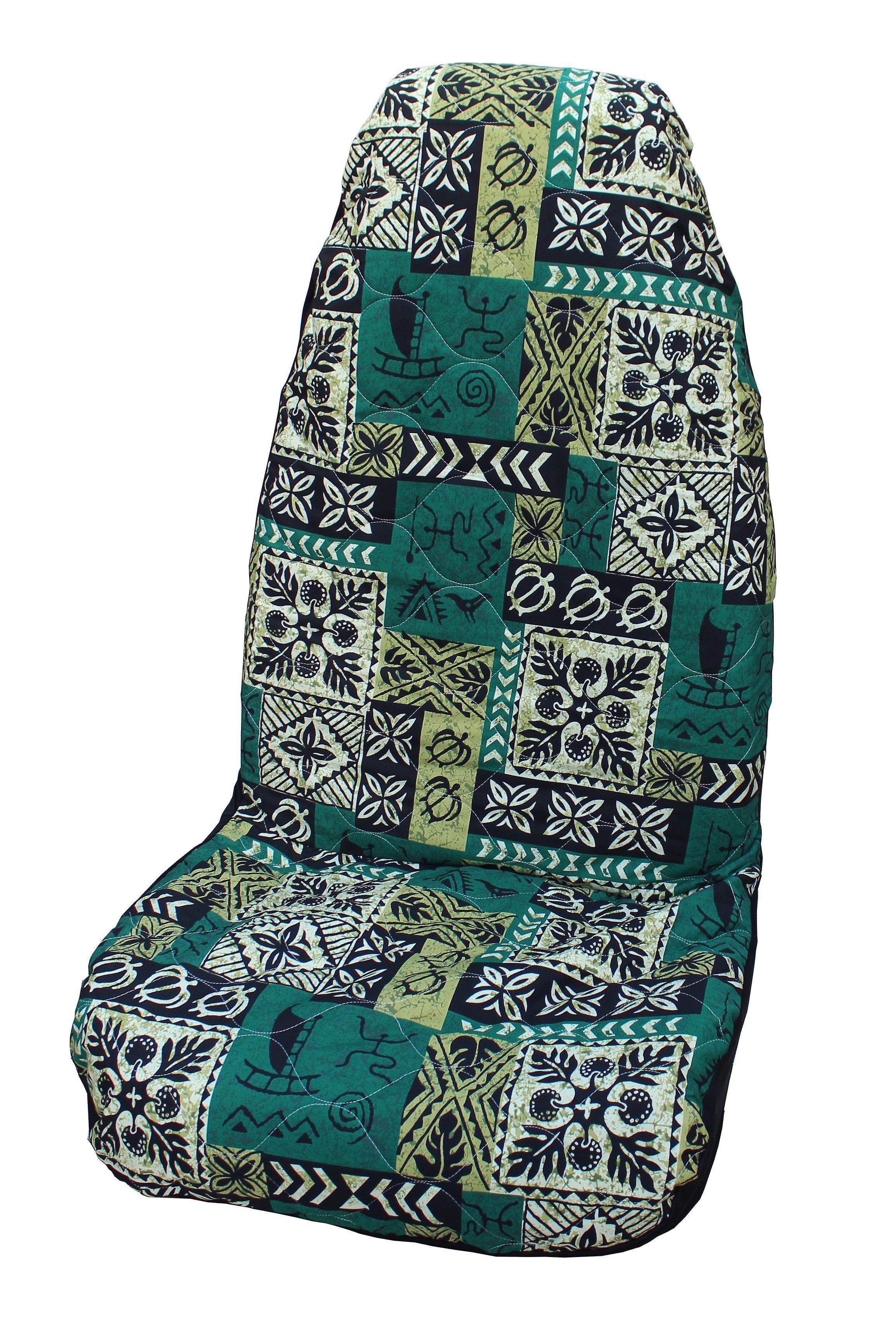 Side Airbag Optional; Old Tapa Hawaiian Car Seat Covers