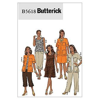 أنماط الخياطة Butterick 5618 يخطئ سترة أعلى اللباس السراويل حجم 22W-28W