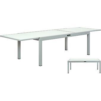 Aluminiowy stół ogrodowy z możliwością wysuwania & Porto 12&; - Phoenix - Silver