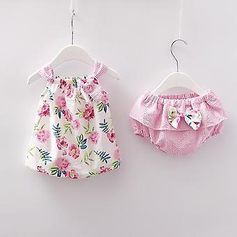 Newborn Clothes, Sleeveless Dress Set, Summer Sunsuit