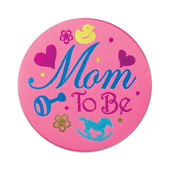 Mom To Be Satin Button (Pack von 6)