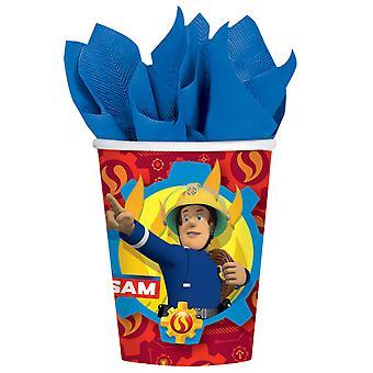 8 Kartonnen bekers Sam de Brandweerman 250 ml
