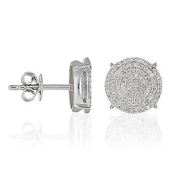 Ohrringe Gold Weiß 'SUBLISSIM' Diamanten 0,45 Karat