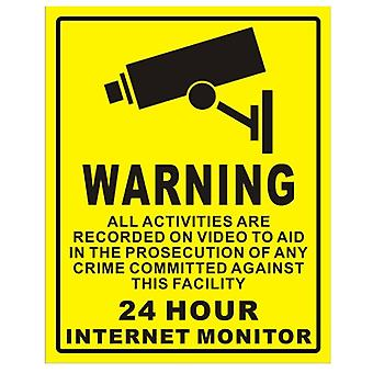 5 stuks waterdichte zonnebrandcrème cctv videobewaking beveiligingsalarm sticker