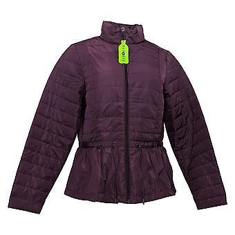 zuda Women's Puffer Jacket Reg Quilted Peplum Purple A384435