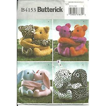 """Butterick ompelu kuvio 4153 9"""" halaavat kaverit täytetyt lelut leikkaamaton"""