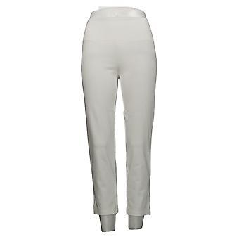 Kvinder med kontrol Regelmæssig Mave Control Crop Jeans White XX Small
