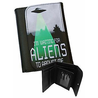 Darkside - ALIENS TO ABDUCT ME - Black Faux Leather Wallet