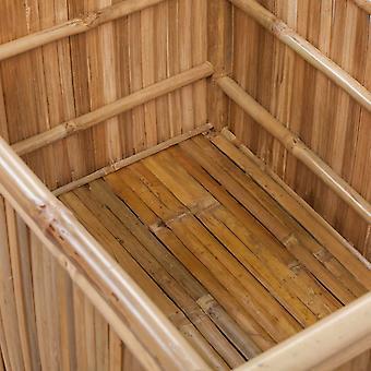 vidaXL cofres de almacenamiento 3 piezas de bambú