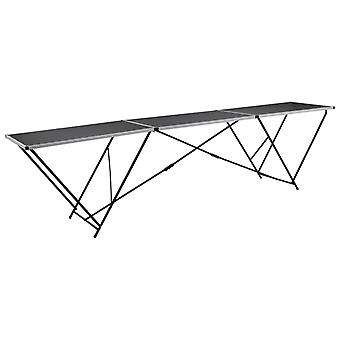 vidaXL Behangtafel Opvouwbaar MDF en Aluminium 300×60×78 cm