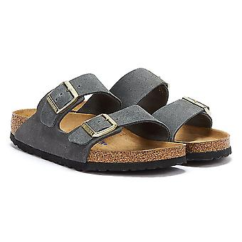 Birkenstock Arizona Soft Footbed Suede Sandale gri închis