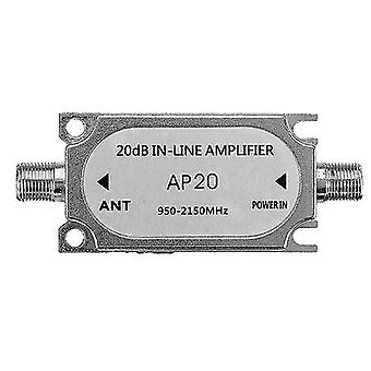 For Jasen JS-20A Satellite 20db In Line Amplifier 950-2150 Mhz Booster WS37279