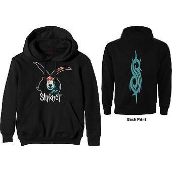Slipknot - Grafisk geit Menn X-Large Pullover Hettegenser - Svart
