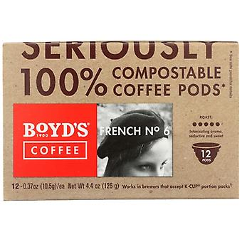 Boyds Coffee French No 6 Snglcp, Case of 6 X 12 PC