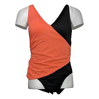 Colleen Lopez Dames Badpak Reg One Piece Slim-Suit Oranje 735610