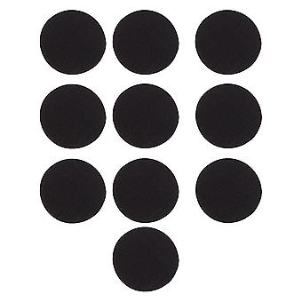 20 Set Hook Loop Tape Dots Round Self-adhesive Stickers With Super Sticky Back Mounting Tape Removable Hook Loop Tape For Home Office Black