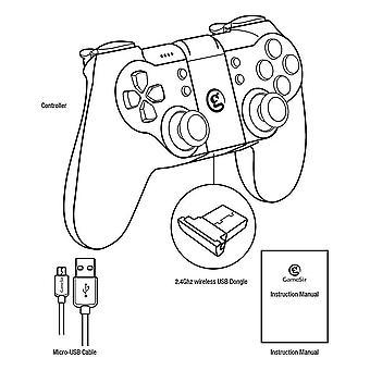 T1s Bluetooth ασύρματη σύνδεση Gamepad ελεγκτή παιχνιδιών δείκτη joystick