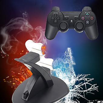 Black  Pvc Dual Usb Charging Dock Station Stand For Ps4 Controller