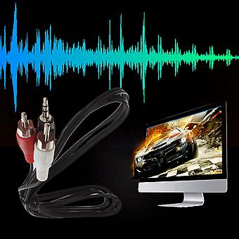 """1/8"""" 3.5mm Plug Jack To 2 Rca Male Stereo Audio Y Adapter Adaptor Cable Kabel"""