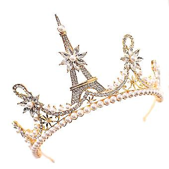 Noiva Coroa Tiara Casamento Princesa Coroa Cristalina Cocar de Casamento
