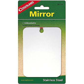 Miroir en acier inoxydable de Coghlan, Incassable pour voyage, camping, randonnée, pack