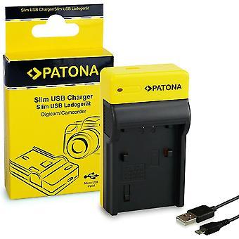 Slim Ladegerät kompatibel mit Sony Akkus NP-FP50 NP-FP60 NP-FP70 NP-FP90 NP-FH40 NP-FH50 NP-FH60