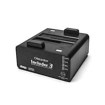 Dokovací stanice pevného disku Dual Bay USB 3.0 až 2.5/3.5inch SATA Skříň pevného disku