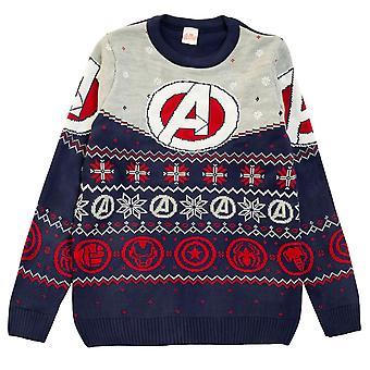 Officiële Marvel Comics Avengers Logo Gebreide Trui Heren Womens Kerstmis
