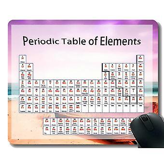 (220X180X3) Tabla periódica de elementos Gaming Mouse Pad Custom,Corfu Sea Water Themed Mouse Pads