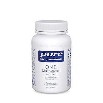 Pure Encapsulations O.N.E. Multivitamin with Iron Capsules 60 (UKMI6UK)