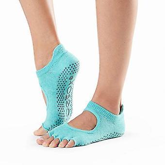 ToeSox No Toe Bellarina Pilates Yoga Dance Martial Arts Grip Socks - Aqua