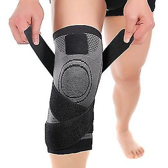 Black xxl 1 pair sports knee pads knee brace compression knee sleeve unisex zf1277
