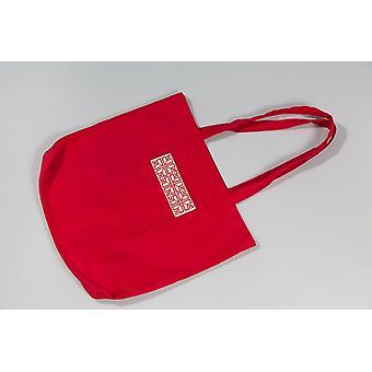 Saco de tote do mercado de tecido vermelho