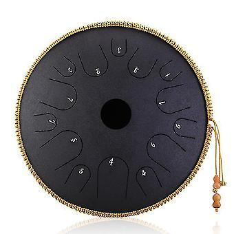 Tambour à langue en acier 14 pouces 14 tons tambour à main tambour percussion instrument yoga méditation