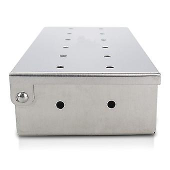 Smoker Box For Grill Bbq Wood Chips Large Capacity Thick Stainless