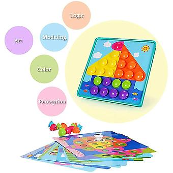 Plug-in Toy Children's Toy Mosaic Toy Colourful Building Blocks Sets Game Gifts For Children